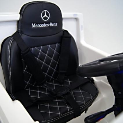 Электромобиль Mercedes-Benz G65 White LS-528 (колеса резина, кресло кожа, пульт, музыка)