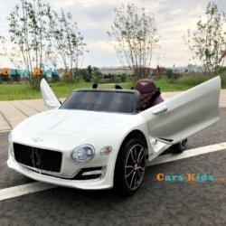 Электромобиль Bentley EXP12 JE1166 белый (колеса резина, кресло кожа, пульт, музыка)