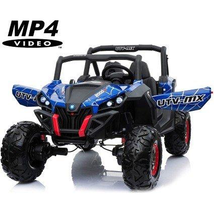 Электромобиль Buggy XMX603 Spider MP4 синий (сенсорный дисплей, 2х местный, полный привод, резина, кожа, пульт, музыка)