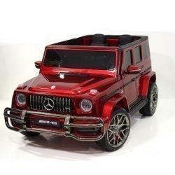 Электромобиль Mercedes-Benz G63 AMG S307 красный (2х местный, колеса резина, кресло кожа, пульт, музыка)